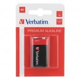 Baterii Verbatim 1x 9V, LR61 Alkaline, Blister