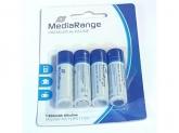 MediaRange Premium Alkaline Micro Batteries AAA/LR03/1.5V PACK 4