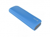 PLATINET POWER BANK LEATHER 7200mAh 2.1A BLUE+microUSB CABLE