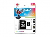 Memory Card Silicon Power Micro SDHC 16GB, Clasa 10 + Adaptor SD