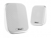 TRUST PORTO 2.0 PORTABLE SPEAKER SET, USB, 6W RMS - WHITE