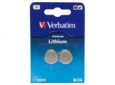 """Baterie CR2032 Lithium 3V - 2 buc Verbatim """"49936"""""""