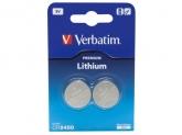 Verbatim CR2450 Battery Lithium 3V 2 Pack