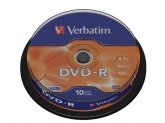 Verbatim  DVD-R 16X 10PK SPIND MATT SIV