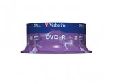 Verbatim  DVD+R 16X 25PK SPINDLE 4.7GB