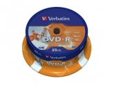 Verbatim  DVD-R 16X 4,7GB SPINDLE 25 WIDE PRINTAB