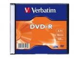 Verbatim DVD-R SINGLE WRAP SC MATT SILV