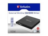 Verbatim Mobile DVD ReWriter USB2.0 Black, incl. data burning sw