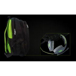 Approx KEEPOUT GAMING BACKPACK BLACK-GREEN XL 17 inch
