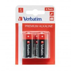Baterii Verbatim 2x C, Alkaline, Blister