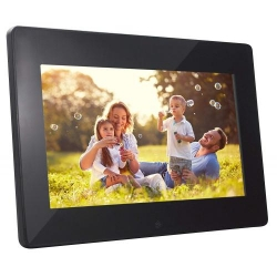 BRAUN  DIGIFRAME 1091 4GB black (10,1 inch/16:9) - High-quality picture frame with internal 4GB memo