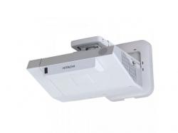 Hitachi 3300 lumeni, WXGA, 10.000:1, imagine de 80inch de la 27cm, focus motorizat, zoom 1.35X, lamp