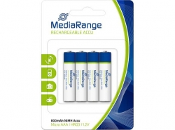 MediaRange Rechargeable NiMH Accus, Micro AAA/HR03/1.2V PACK 4