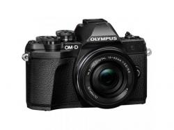 Camera foto Mirrorless Olympus E-M10 Mark III 16.1 MP, Black + Obectiv EZ-M1442 IIR Black