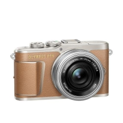 Olympus E-PL9 Pancake Zoom Kit brn/slv (E-PL9 brown + EZ-M1442EZ silver - incl. Charger & Battery)