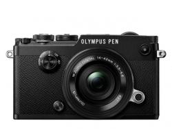 Olympus PEN-F Pancake Zoom Kit blk/blk / PEN-F black + EZ-M1442EZ black