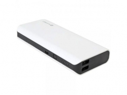 PLATINET POWER BANK 10000mAh 2xUSB@5.0V 1A&2.1A WHITE