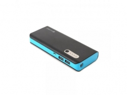 PLATINET POWER BANK 13000mAh + microUSB cable + torch BLACK/BLUE