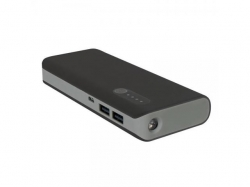 PLATINET POWER BANK 13000mAh + microUSB cable + torch BLACK/GRAY