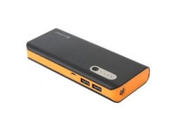 PLATINET POWER BANK 13000mAh+microUSB cable +torch BLACK/ORANGE