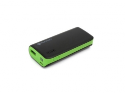PLATINET POWER BANK 4400 mAH + micro USB cable + torch BLACK/GREEN