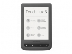 PocketBook  TOUCH LUX 3 GREY  - 6   eReader; Anti-glare E Ink Carta ?¢ display with HD Resolution 2