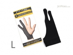 SmudgeGuard 2 finger gloves SG2,Black,Large