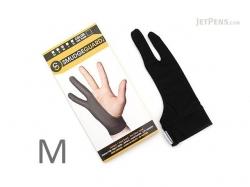 SmudgeGuard 2 finger gloves SG2.Black,Medium
