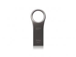 Stick Memorie Silicon Power J80 Metallic, 64GB, USB 3.0, Silver