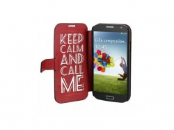 TnB  FOLIO CASE KEEP CALM FOR  GALAXY S4