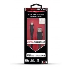 TNB XTREMWORK - XCBL150-1.5m USB / Lightning Cable - Black / Grey