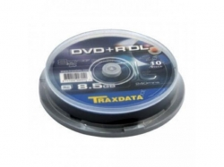 TRAXDATA DVD+R 8.5GB 8X DOUBLELAYER CAKE10