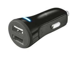 TRUST 20W Car Charger with 2 USB ports - black