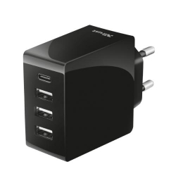 Trust 24W Fast Wall Charger with 4 USB-C & USB-A ports
