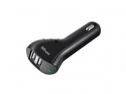 TRUST DUAL CAR CHARGER FOR TABLET AND SMARTPHONE 10W