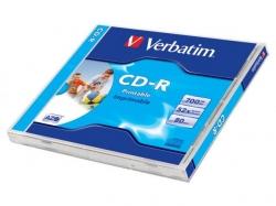 Verbatim  CD-R 52X 700MB FAST DRY PRINTABLE JC