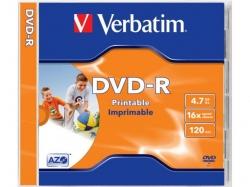Verbatim DVD-R AZO 16X 4.7GB WIDE PRINTABLE SURFACE Jewel Case