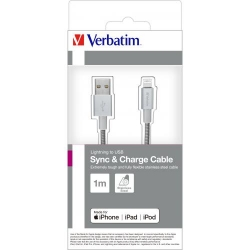 VERBATIM Lighting Cable Sync & Charge 100cm Silver