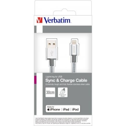 VERBATIM Lighting Cable Sync & Charge 30cm Silver
