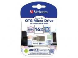 Verbatim Store  n  Go OTG Micro Drive USB 3.0 16GB