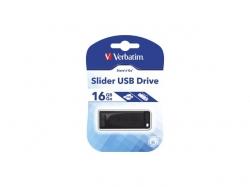 Stick memorie Verbatim Store 'n' Go Slider 16GB, USB 2.0, Black