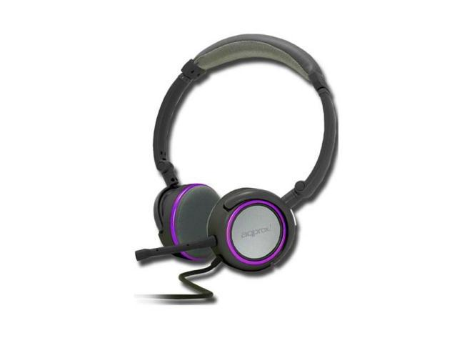 APPROX FOLDABLE STEREO HEADSET GREY/PURPLE