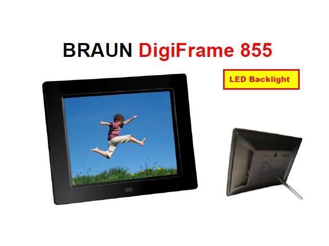 BRAUN  DIGIFRAME 855 black (8inch/4:3) - PC independent Digital Photo Frame