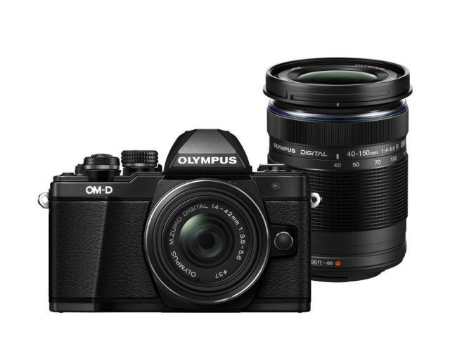 Olympus E-M10 Mark II  Double Zoom kit black