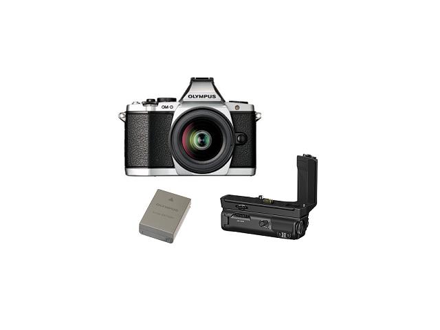 OLYMPUS E-M5II 1240 Kit slv/blk + HLD-8 Power Battery Holder + BLN-1 Battery