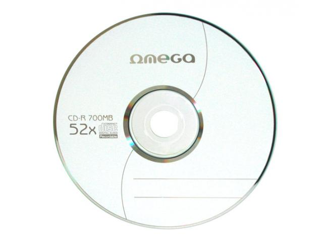 Omega  CD-R 700MB 52X IN PLIC