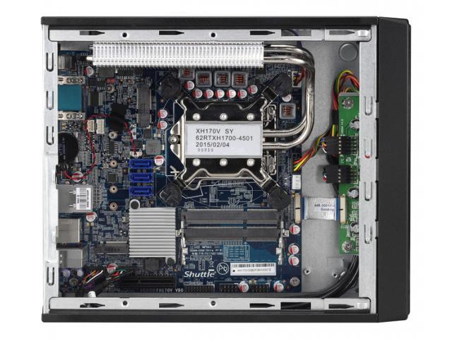 Shuttle Slim-PC Barebone XH170V Black