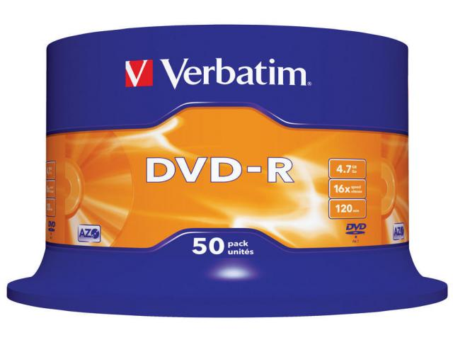 Verbatim  DVD-R 16X SPINDLE 50