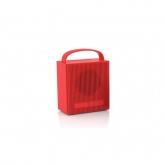 CREATIVE Chrono, Bluetooth Speaker with Alarm Clock/Radio, Red