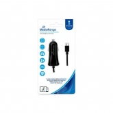 MediaRange Car charger with microUSB cable, 2.4A output 1m black
